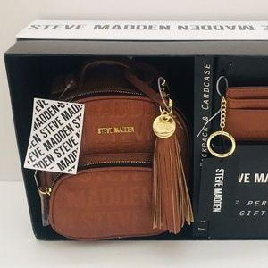 NEW Steve Madden 2 Pc Gift Set Logo Backpack Bag
